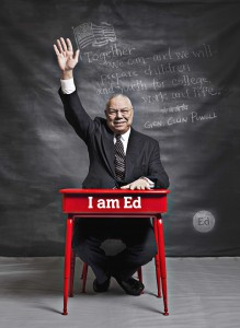 Gerneral Colin Powell in support of improving Birmingham's schools